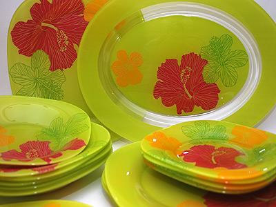 Сервиз Luminarc Carine Hibiscus Green 19 предметов