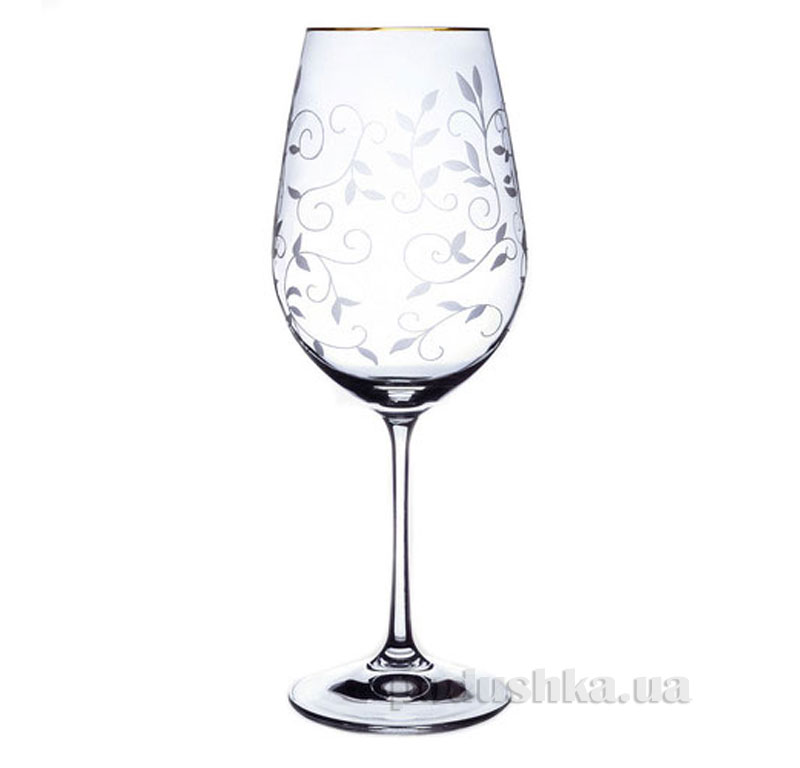 Набор бокалов для вина Viola Bohemia Sklo золото 06-02-550-2-019