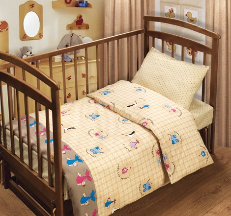 Постельное белье в кроватку Аист