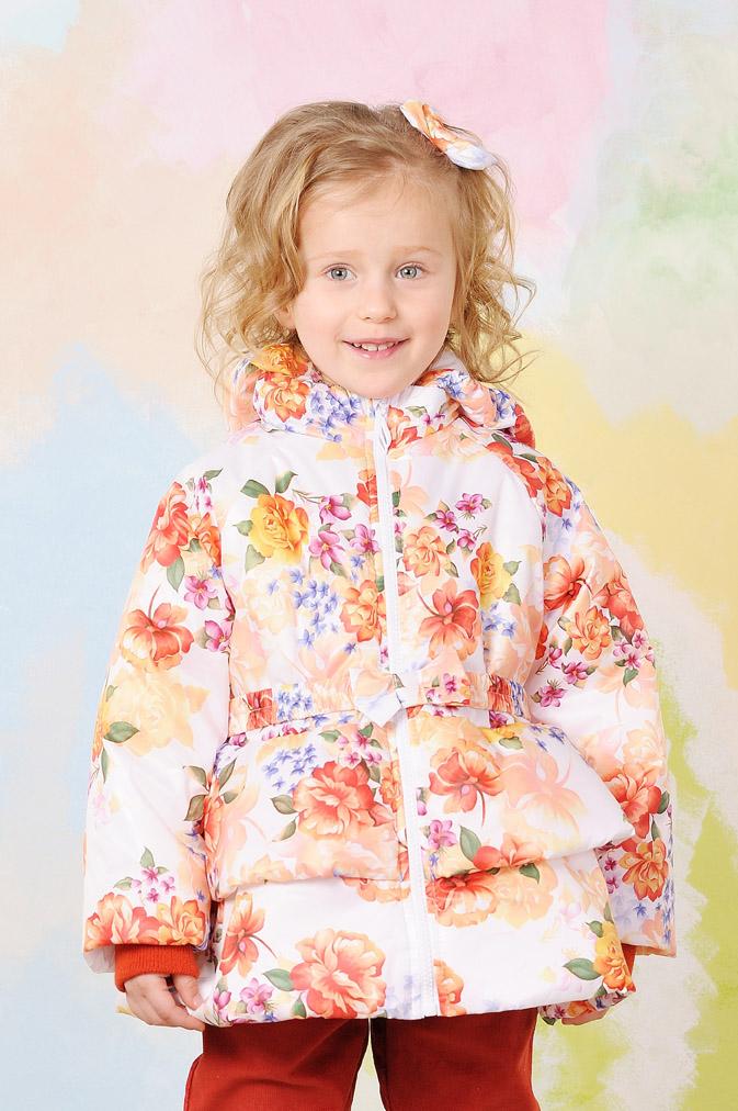 e0b28e47fac Куртка демисезонная для девочки 03-00567 Модный карапуз Цветы купить ...