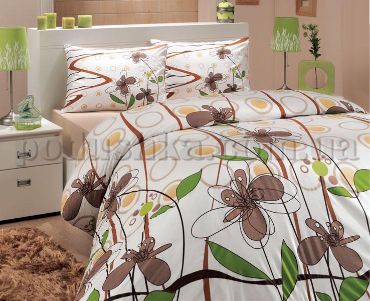 Постельное белье Hobby Lidya коричневый