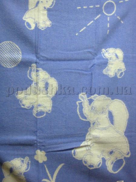 Одеяло детское Слоники голубое Klippan Saule