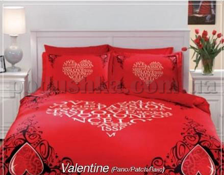 Постельное белье TAC Valentine красный