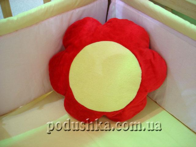 Декоративная подушка-игрушка Цветок