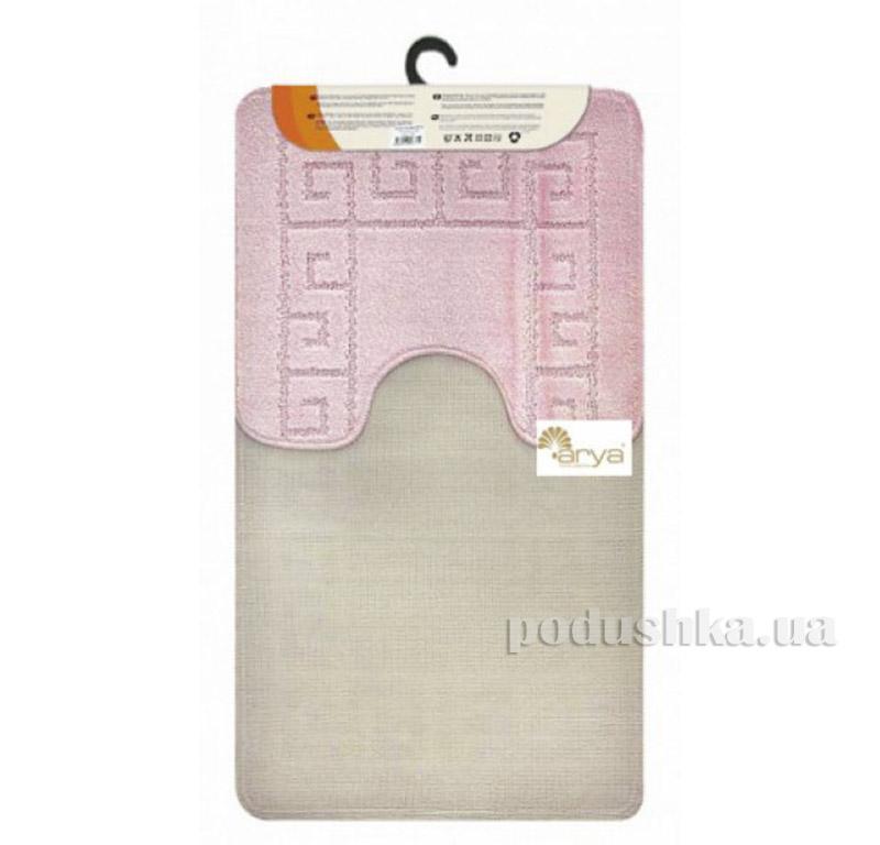 Комплект розовых ковриков для ванной комнаты Mono Arya 1380078   ARYA