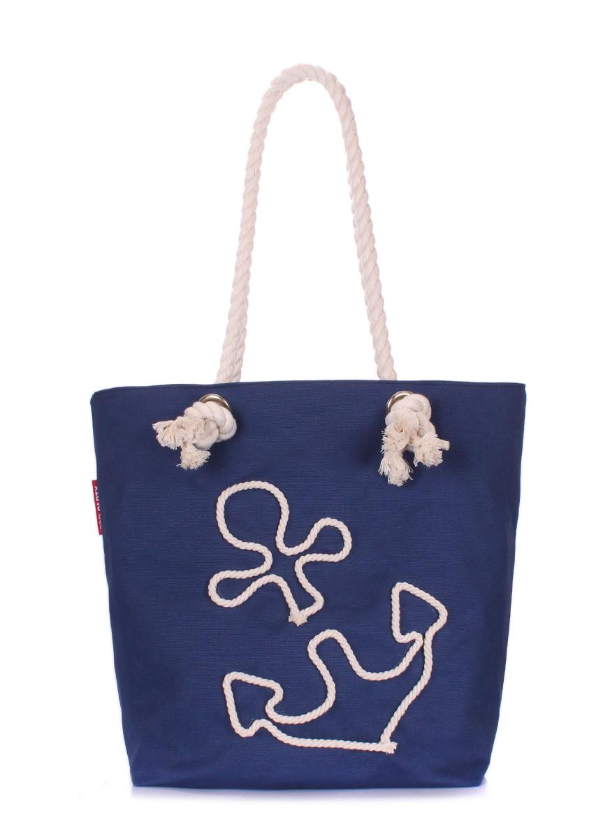 Коттоновая сумка с якорем Poolparty Anchor darkblue none