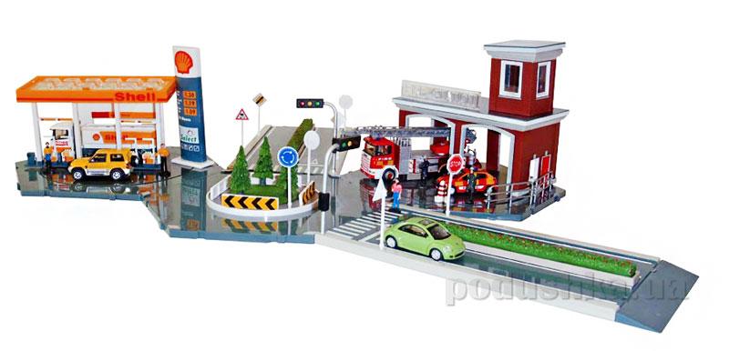 Набор-конструктор большой Бензозаправка+пожарная часть М1:72 Cararama