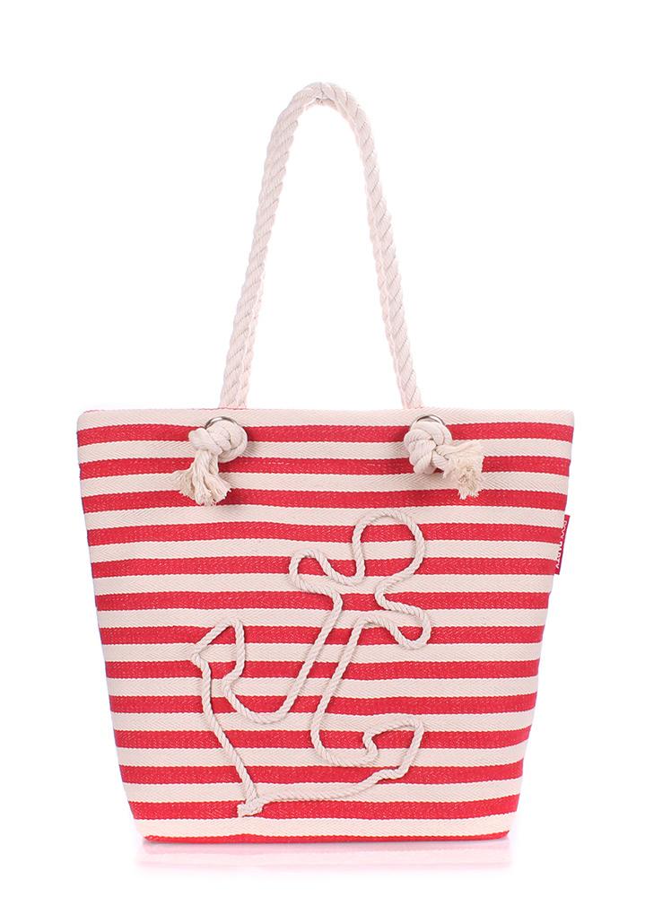 Коттоновая сумка с якорем Poolparty Anchor red