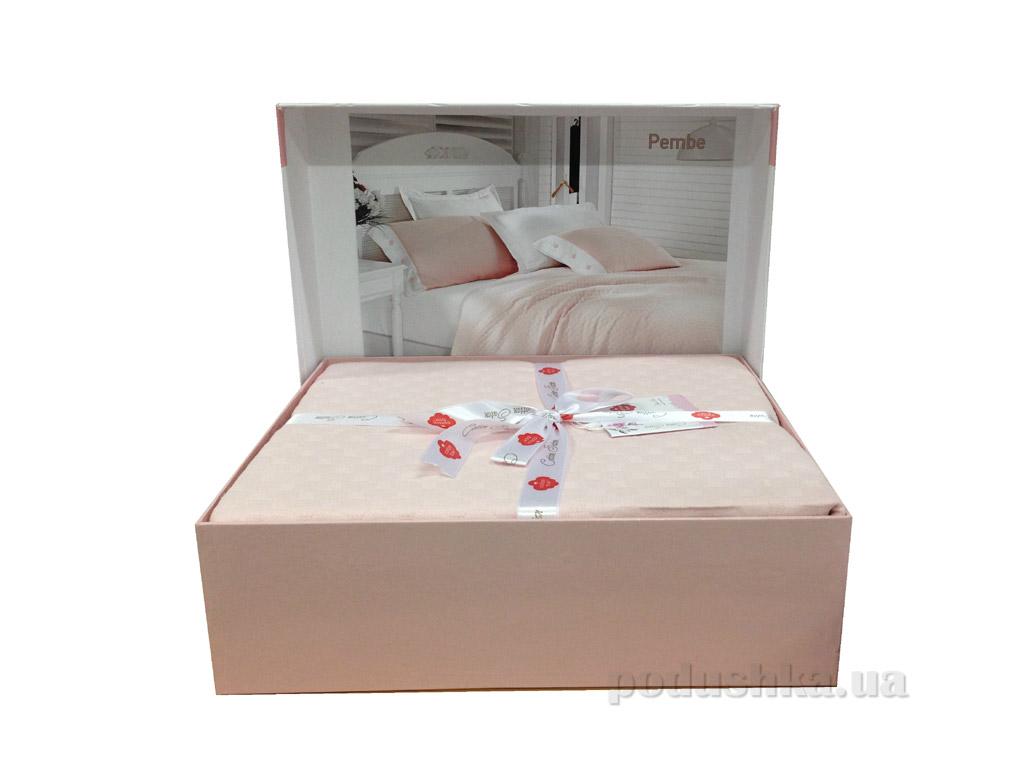Летний комплект Cotton Box пике Pembe Двуспальный евро комплект  Cotton box
