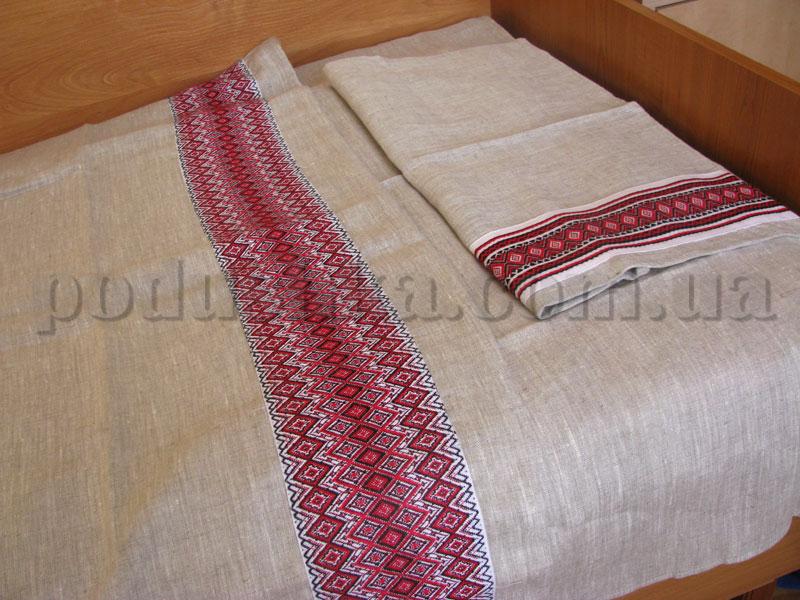 Постельное белье с декором из льна Национальный