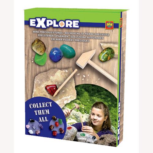 Набор серии Исследователь - В поисках сокровищ Древней Горы (6 камней для коллекции, инструменты)