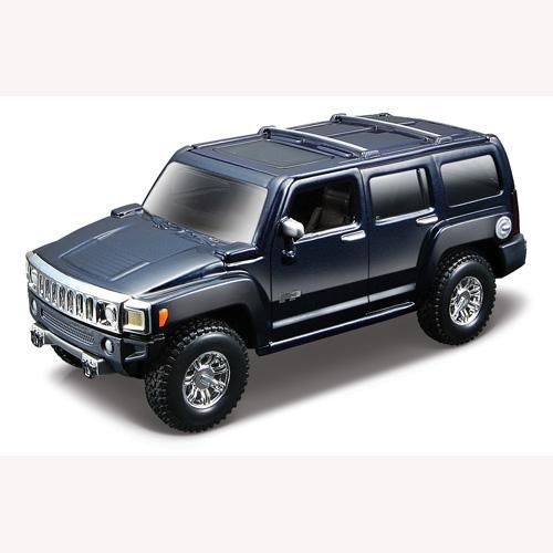 Автомодель - Hummer H3 (ассорти синий металлик, желтый, 1:32)