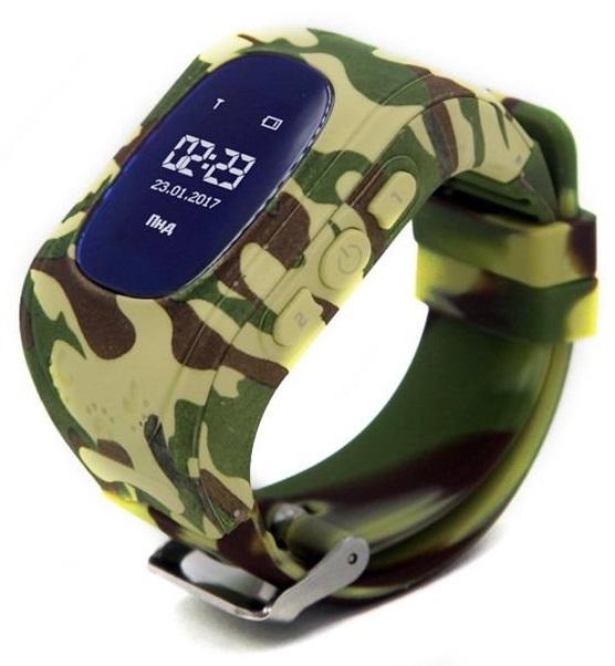 Детские телефон-часы с GPS трекером GoGPS me K50 Хаки K50KK