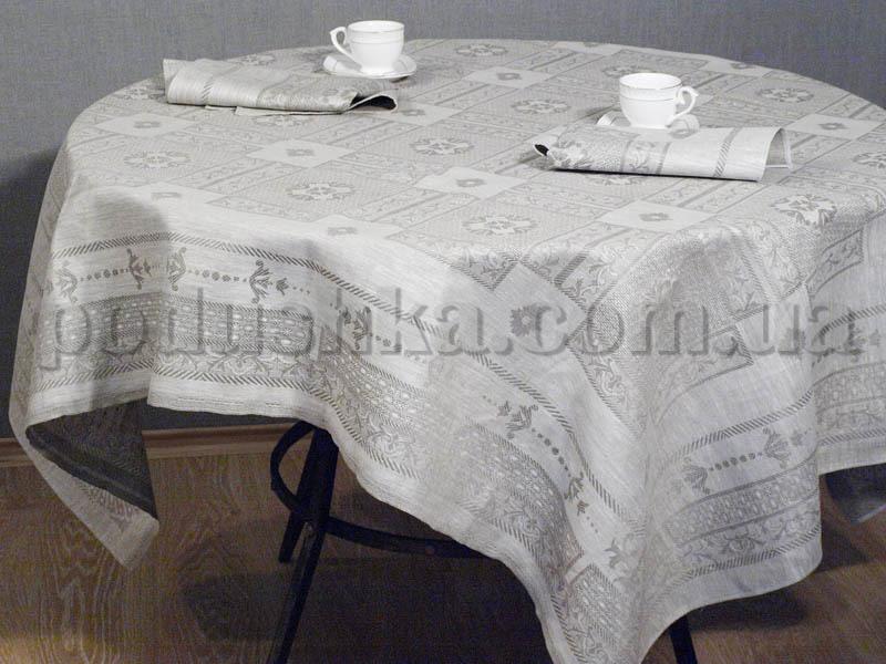Льняная скатерть Гламур Белорусский лен