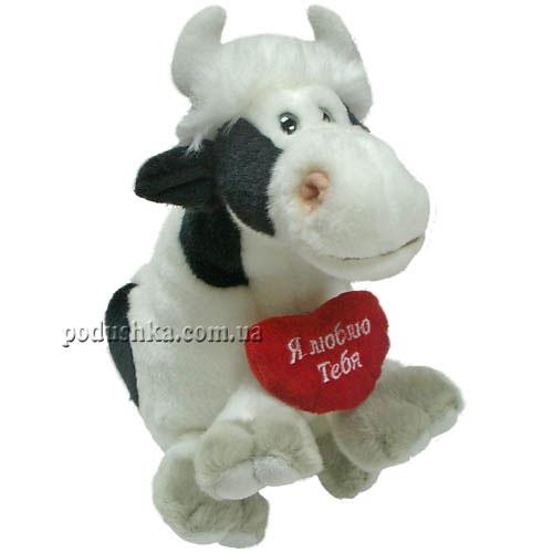 Мягкая игрушка Корова с сердцем, 24 см