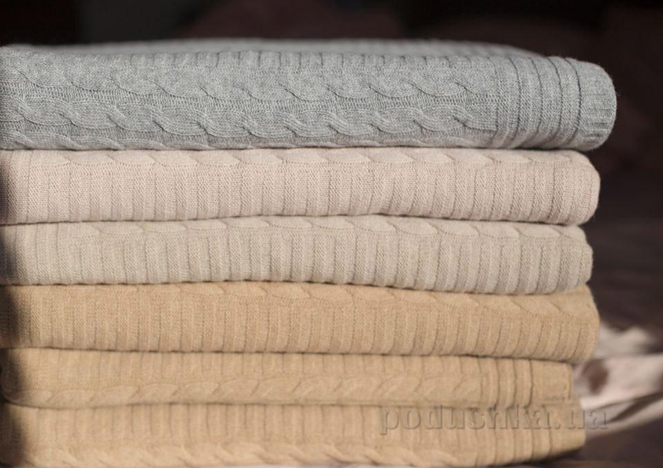 Вязанный плед из шерсти Sleeper Set Ivory 160х200 см  Sleeper Set