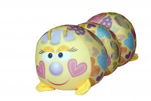 Антистрессовая игрушка-валик Гусеница принты малая