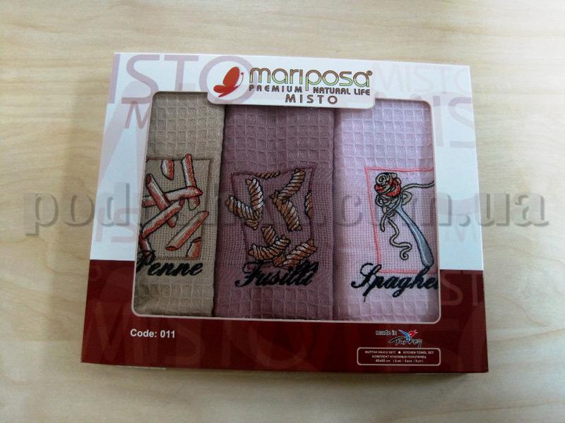Набор вафельных кухонных полотенец Mariposa 011 Спагетти