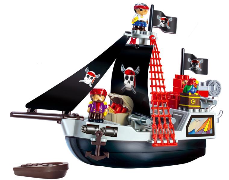 Конструктор Пиратский корабль с людьми