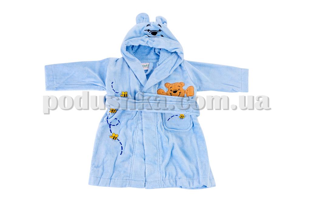 Халат детский махровый Maisonette Earflap голубой