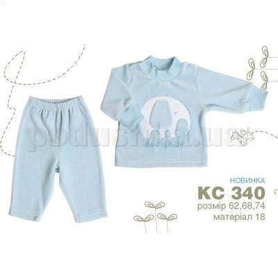 Костюм детский со слоником Бемби КС340 велюр