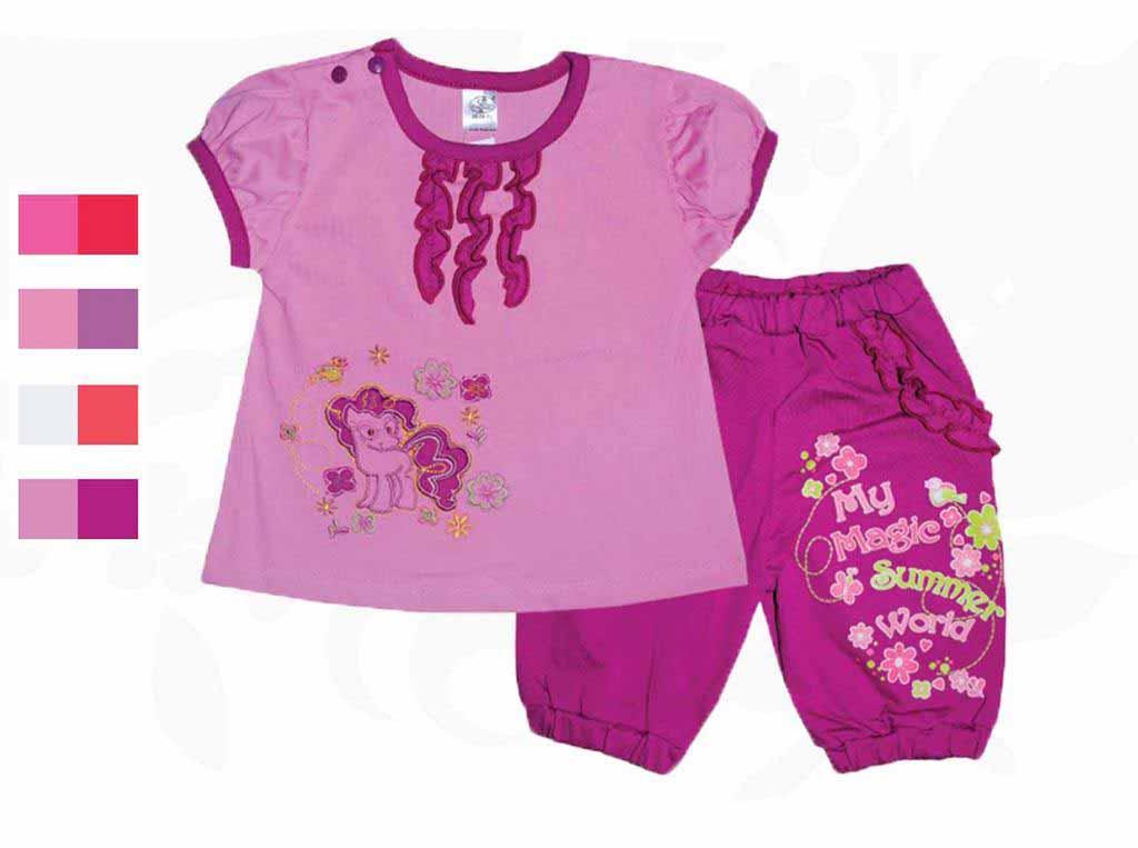 Комплект для девочки Фламинго 434