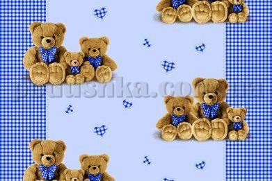 Постельное белье в кроватку Три медведя голубой (с1004_70032)