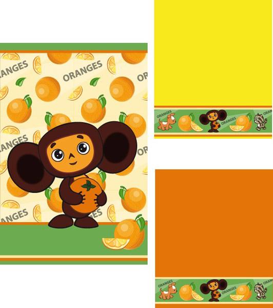 Набор махровых полотенец  Апельсинка