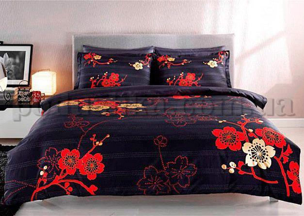 Постельное белье TAC deluxe Sakura красный