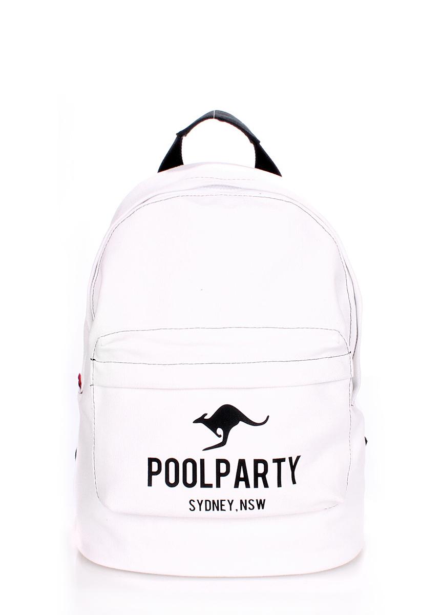 Рюкзак молодежный Poolparty Backpack kangaroo white