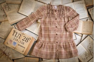 Платье детское в клетку  (фланель) ПЛ28