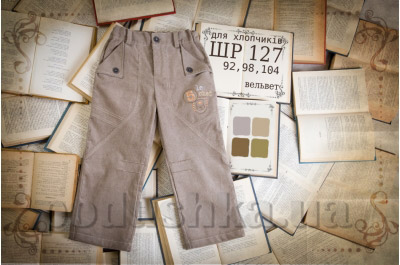 Детские штанишки с рисунком для мальчика Бемби ШР127 вельвет
