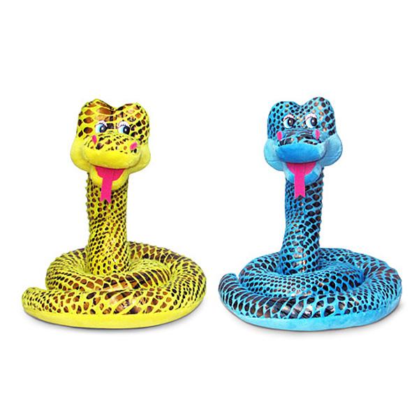 Мягкая игрушка - Змей чешуйчатый музыкальный, 21,5 см