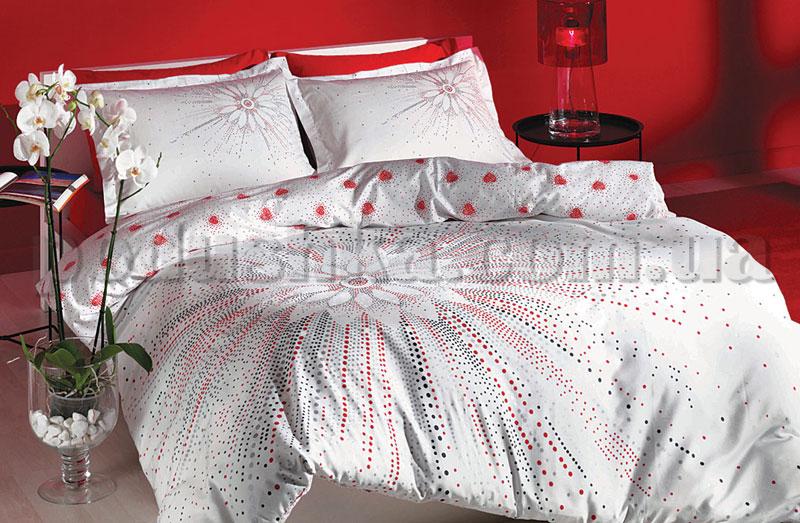 Постельное белье TAC Selia красный