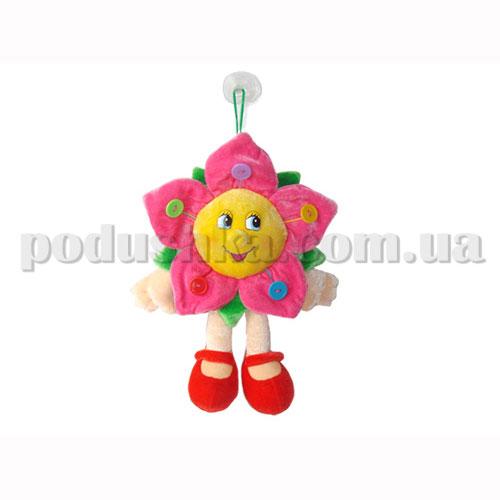 Мягкая игрушка - Цветок с пуговицами музыкальный