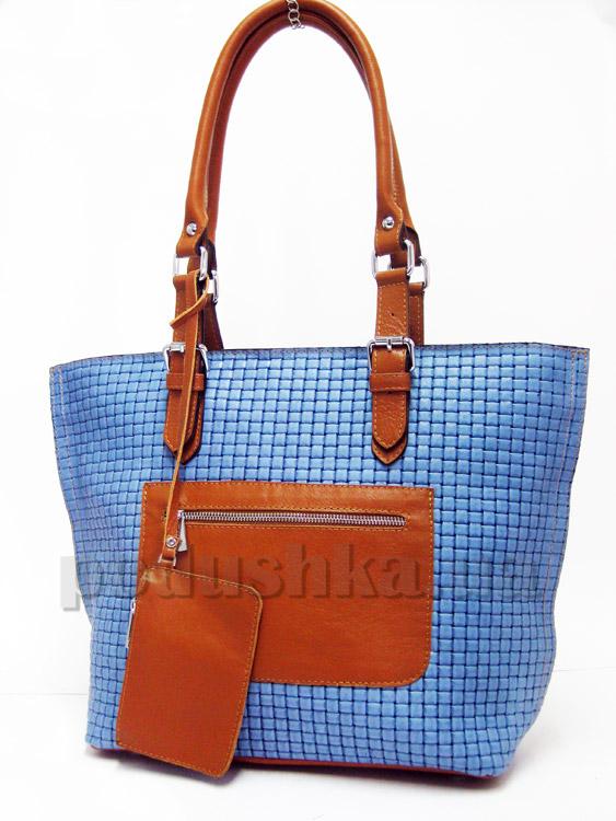 Сумка из натуральной кожи Artis Bags 744 голубая