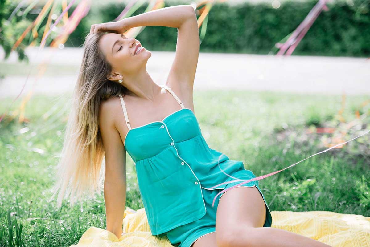 Женская пижама Sweet Home 1136 зеленая