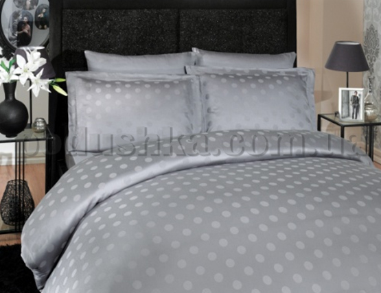 Постельное белье Hobby Bamboo Diamond Round серый