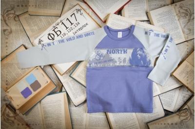 Детская футболка с надписями (интерлок) ФБ117