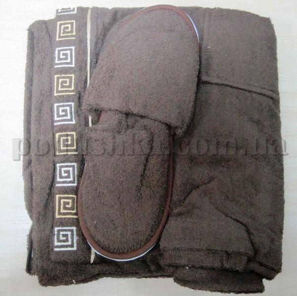 Набор для сауны мужской Nusa NS-250 коричневый