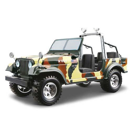 Авто-конструктор - JEEP CJ-7 ARMY (1980), хаки