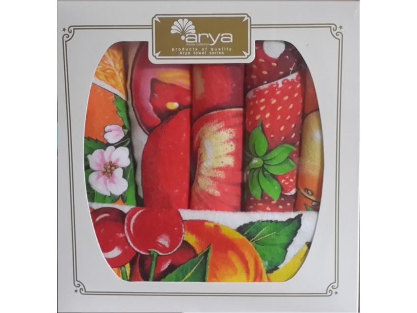 Набор махровых салфеток для кухни Fakili Arya 1154082 30х50 см  ARYA