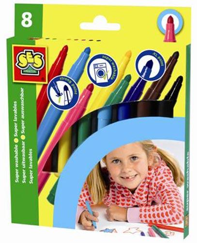 Набор крупных цветных маркеров - Смывающиеся (8 цветов)