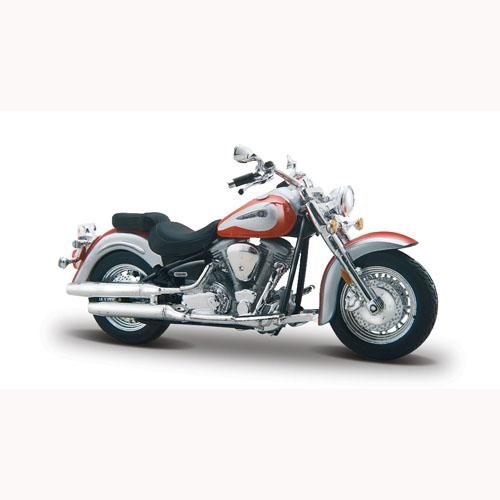 Мото-конструктор - Yamaha Road Star (красно-белый, 1:18)