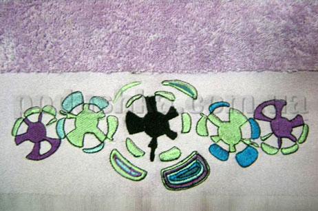 Полотенце махровое с вышивкой Унисон Pulse сиреневый