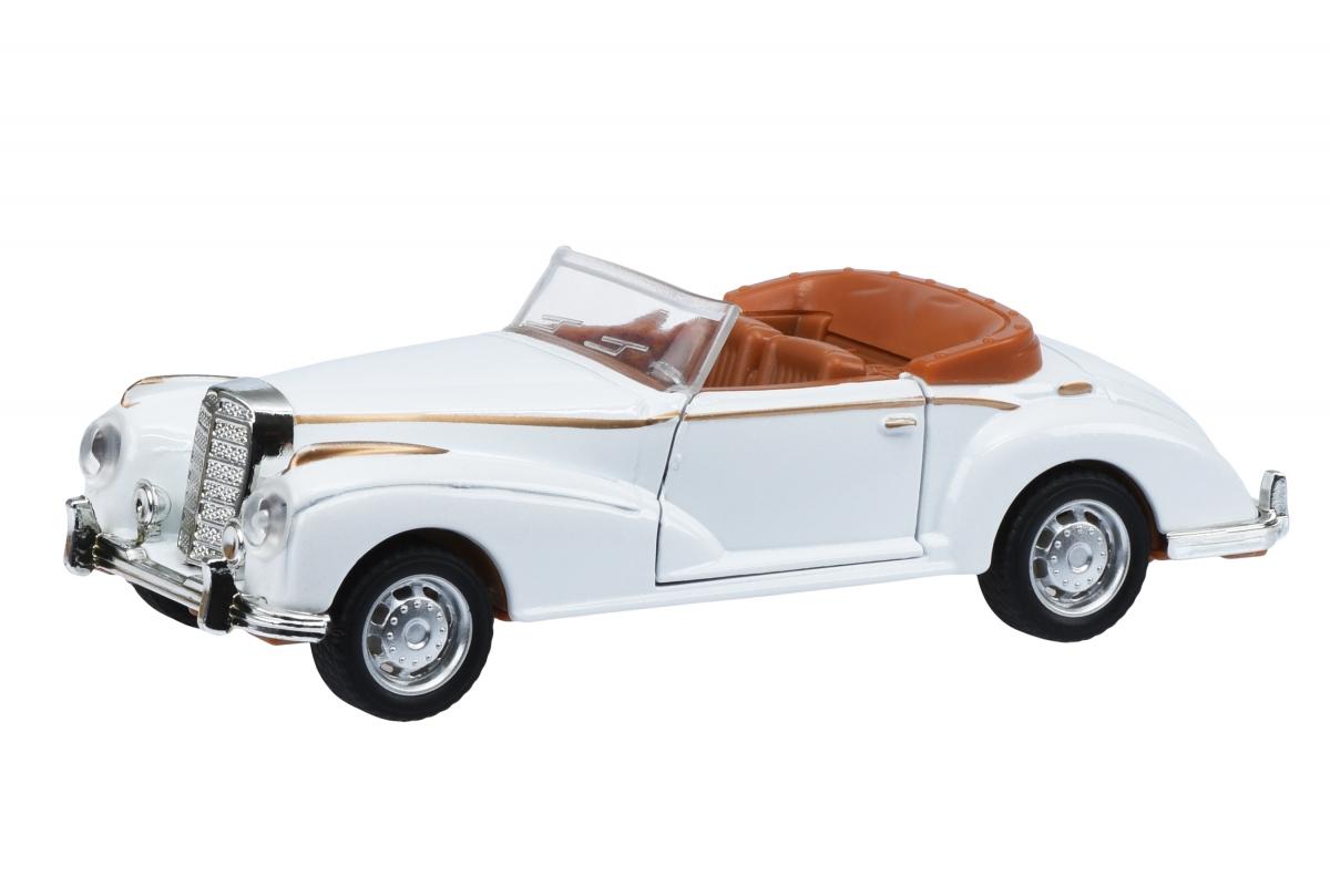 Автомобиль Same Toy Vintage Car со светом и звуком Белый открытый кабриолет 601-3Ut-6