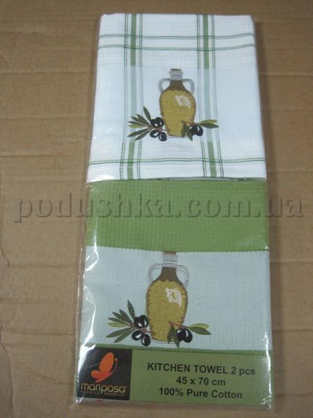 Набор вафельных кухонных полотенец Mariposa Маслины