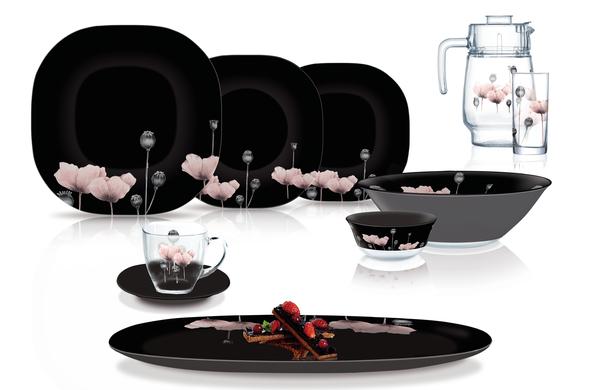 Сервиз столовый Luminarc Carine Angelique 46 предметов N8124 черный