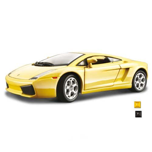 Автомодель - Lamborghini Gallardo (ассорти желтый, черный, 1:24)
