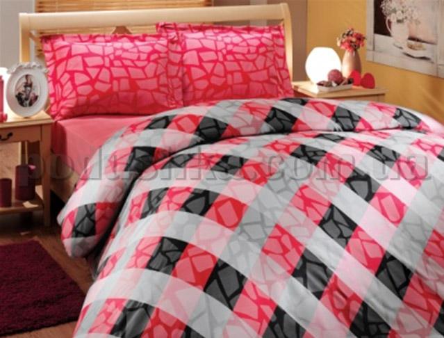 Постельное белье Hobby Mozaik красный
